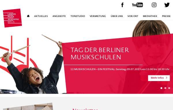Vorschau von www.landesmusikakademie-berlin.de, Landesmusikakademie Berlin