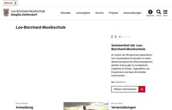 Vorschau von www.berlin.de, Leo Borchard Musikschule Berlin Steglitz-Zehlendorf
