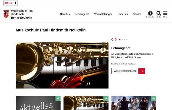 Vorschau von www.musikschuleneukoelln.de, Musikschule Paul Hindemith Neukölln