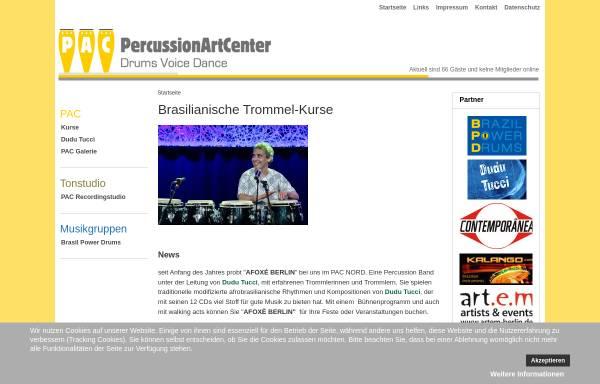 Vorschau von www.pac-berlin.de, PAC - Percussion Art Center, Trommeln in Berlin