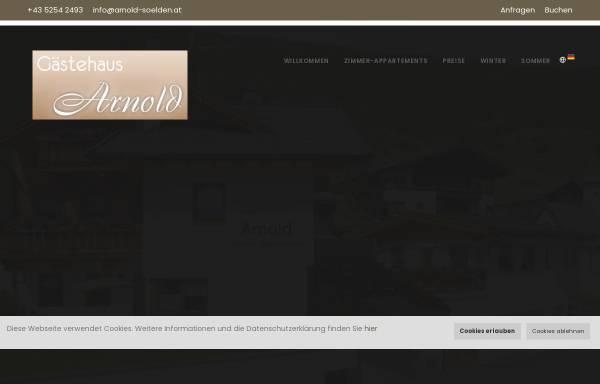 Vorschau von www.arnold-soelden.at, Haus Arnold