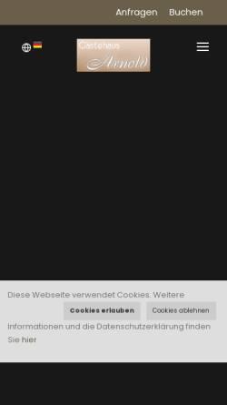 Vorschau der mobilen Webseite www.arnold-soelden.at, Haus Arnold
