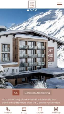 Vorschau der mobilen Webseite www.gotthard-zeit.com, Hotel Gotthard