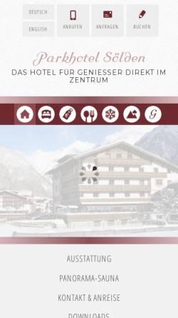 Vorschau der mobilen Webseite www.parkhotel-soelden.at, Parkhotel Sölden