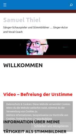 Vorschau der mobilen Webseite www.samuelthiel.online, Samuel Thiel