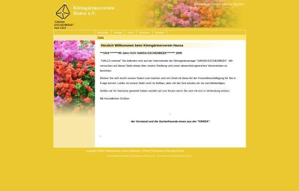 Vorschau von hansa.kleingarten-infonetz.de, Kleingärtnerverein Hansa e.V.