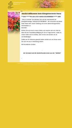 Vorschau der mobilen Webseite hansa.kleingarten-infonetz.de, Kleingärtnerverein Hansa e.V.