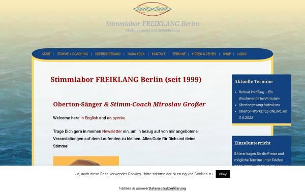 Vorschau von www.stimmlabor.de, Stimmlabor FREIKLANG Berlin - Obertongesang und Stimmbildung
