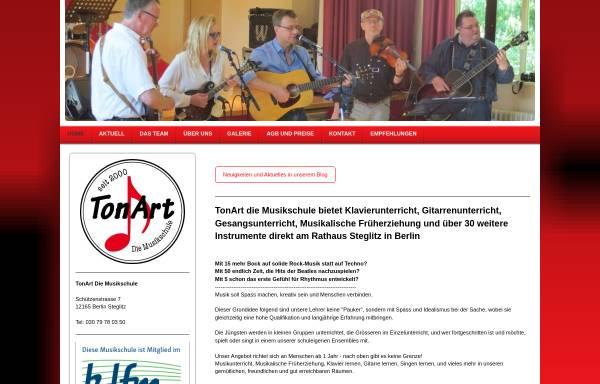Vorschau von www.tonart-die-musikschule.de, TonArt - Die Musikschule