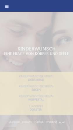Vorschau der mobilen Webseite www.kinderwunschzentrum.org, Kinderwunschzentrum Dortmund