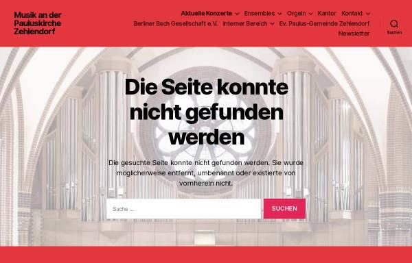 Vorschau von www.berlinerbachgesellschaft.de, Berliner Bach Gesellschaft e.V.
