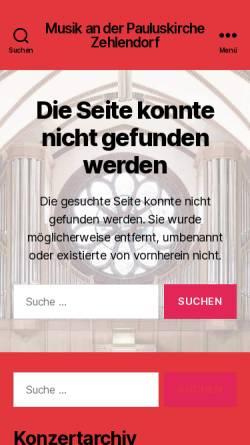 Vorschau der mobilen Webseite www.berlinerbachgesellschaft.de, Berliner Bach Gesellschaft e.V.