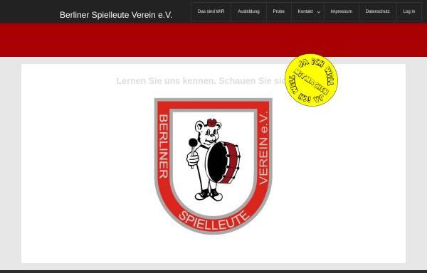 Vorschau von www.berliner-spielleute.com, Berliner Spielleute Verein e.V.