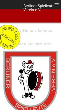 Vorschau der mobilen Webseite www.berliner-spielleute.com, Berliner Spielleute Verein e.V.