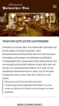 Vorschau der mobilen Webseite www.palmscher-bau.de, Palmscher Bau