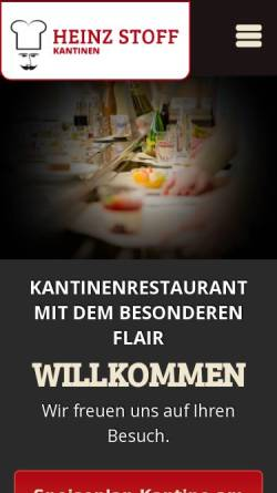 Vorschau der mobilen Webseite www.speiseplaninfo.de, Heinz Stoff - Kantine im Landesbehördenhaus