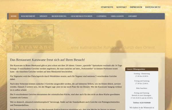 Vorschau von karawane-oberkassel.de, Restaurant Karawane