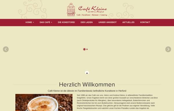 Vorschau von www.cafekleine.de, Cafe Kleine
