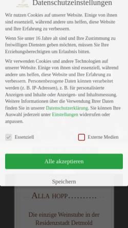Vorschau der mobilen Webseite www.pfaelzer-weinstube.de, Pfälzer Weinstube