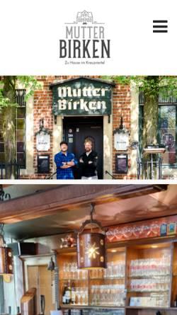 Vorschau der mobilen Webseite www.mutter-birken.de, Mutter Birken