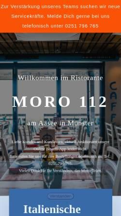 Vorschau der mobilen Webseite moro112.de, Ristorante La Vela am Aasse