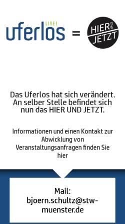Vorschau der mobilen Webseite www.uferlos-muenster.de, Uferlos Kneipe und Café