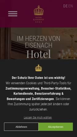 Vorschau der mobilen Webseite www.kaiserhof-eisenach.de, Hotel Kaiserhof