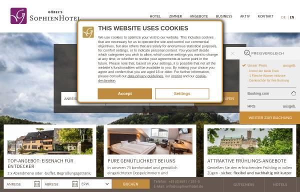 Vorschau von www.sophienhotel.de, Sophien Hotel