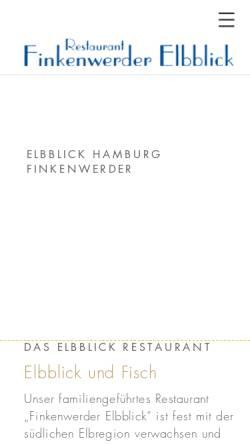 Vorschau der mobilen Webseite www.finkenwerder-elbblick.de, Finkenwerder Elbblick