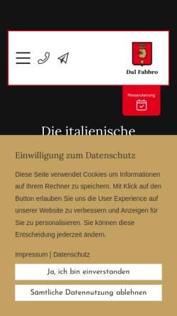 Vorschau der mobilen Webseite www.dal-fabbro.de, Dal Fabbro