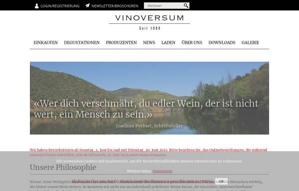 Vorschau von www.vinoversum.ch, Vinoversum A. Gatti AG