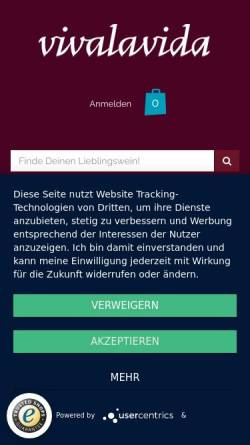 Vorschau der mobilen Webseite vivalavida.de, Vivalavida, Steffen Krischak