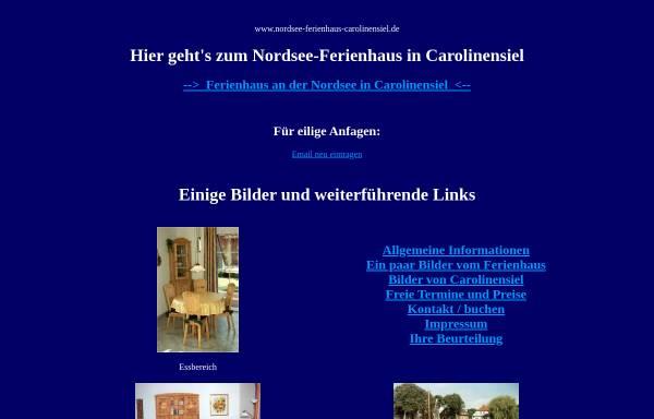 Vorschau von www.nordsee-ferienhaus-carolinensiel.de, Ferienhaus Burmeister