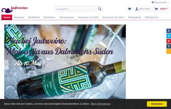 Vorschau von www.jadrovino.de, Weinhandel Gerhard Lzicar