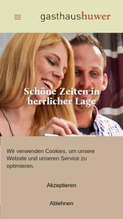 Vorschau der mobilen Webseite www.gasthaus-huwer.de, Gasthaus Huwer