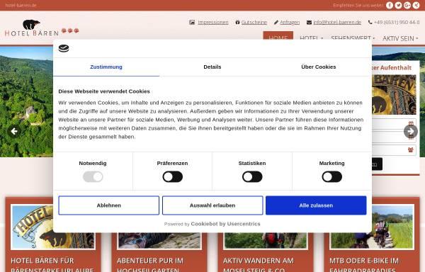 Vorschau von www.hotel-baeren.de, Hotel Bären