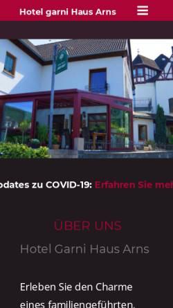 Vorschau der mobilen Webseite hotel-arns.de, Hotel Garni Arns