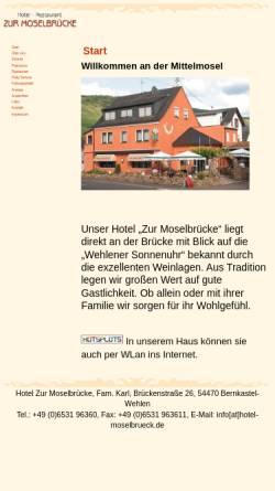 Vorschau der mobilen Webseite www.hotel-moselbrueck.de, Hotel Zur Moselbrücke