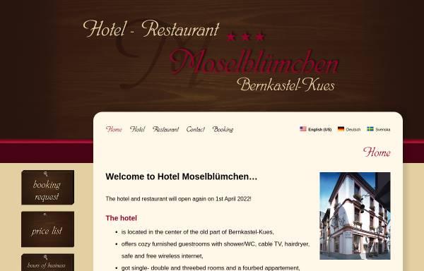 Vorschau von www.hotel-moselbluemchen.de, Hotel-Restaurant Moselblümchen