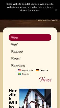 Vorschau der mobilen Webseite www.hotel-moselbluemchen.de, Hotel-Restaurant Moselblümchen