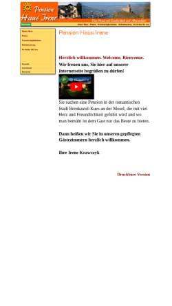 Vorschau der mobilen Webseite www.pension-irene.de, Pension Haus-Irene