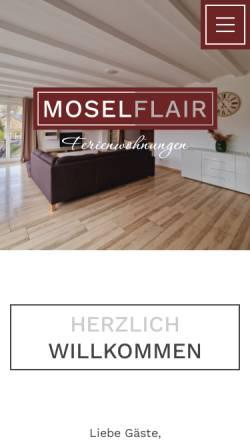 Vorschau der mobilen Webseite www.mosel-fewo-bernkastel.de, Ferienwohnungen Moselflair