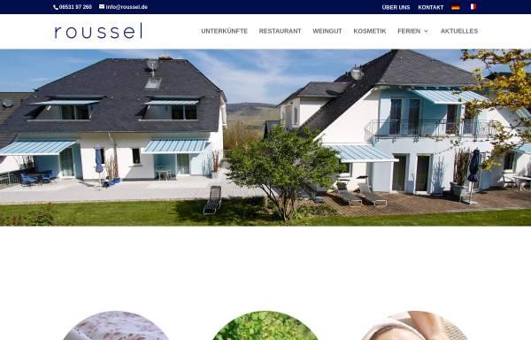 Vorschau von www.roussel.de, Ferienwohnungen und Weingut Roussel