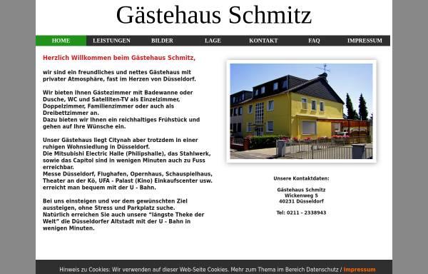 Vorschau von www.gaestehaus-schmitz.de, Gästehaus Schmitz