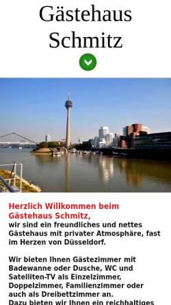 Vorschau der mobilen Webseite www.gaestehaus-schmitz.de, Gästehaus Schmitz