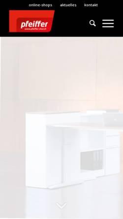 Vorschau der mobilen Webseite www.pfeiffer-chur.ch, J.F. Pfeiffer Chur AG