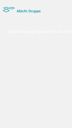 Vorschau der mobilen Webseite www.abicht.ch, Hans Abicht AG, Beratende Ingenieure, Zug