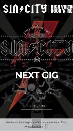 Vorschau der mobilen Webseite www.sin-city.de, SIN/CITY
