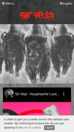 Vorschau der mobilen Webseite www.sirveja.de, Sir Veja