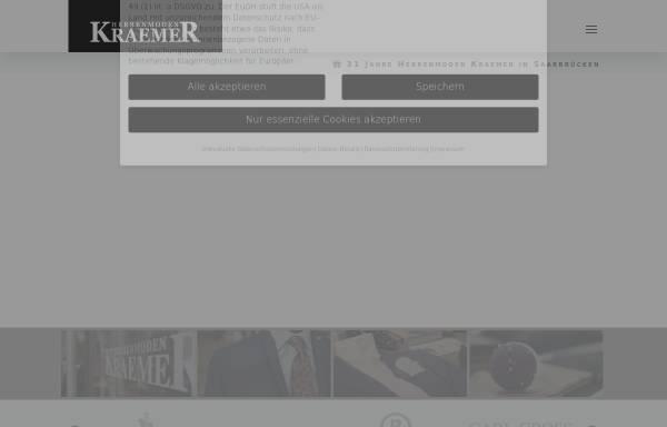 Vorschau von www.herrenmoden-kraemer.de, Herrenmoden Krämer GmbH